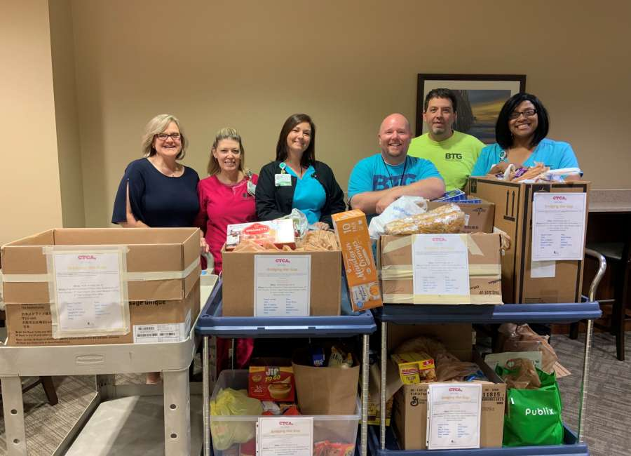 CTCA donates 430 pounds of food to Bridging the Gap