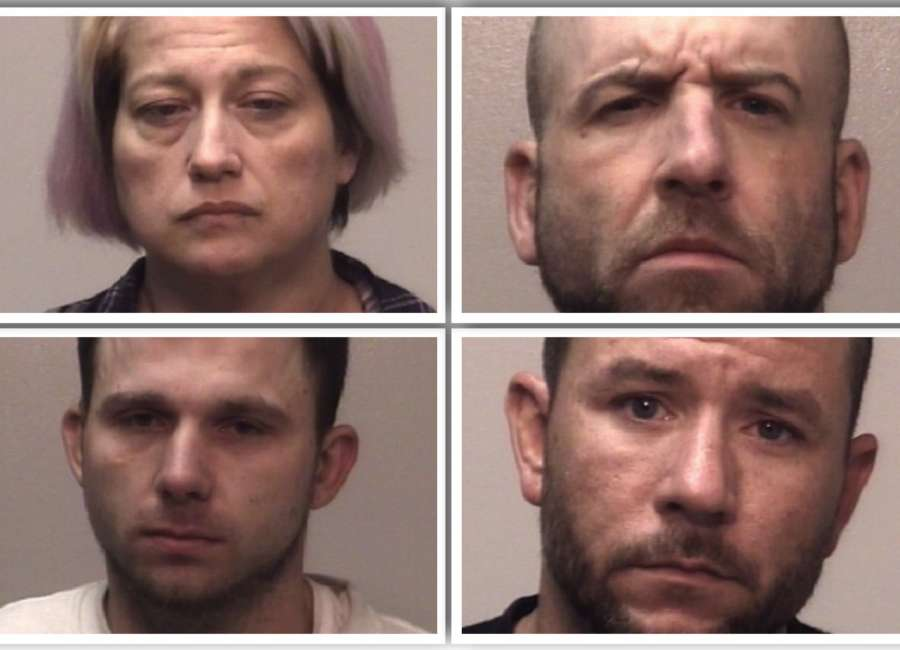 Drugs seized, four arrested in disorderly house