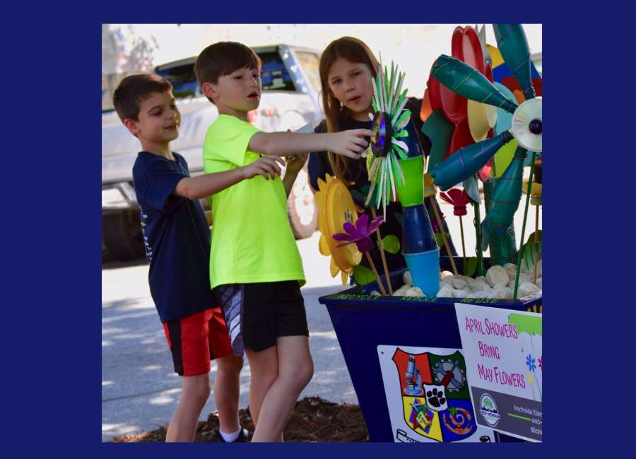Environmental art installation brings together education, recycling
