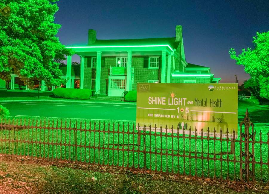 Green lights shine for Mental Health Awareness Month
