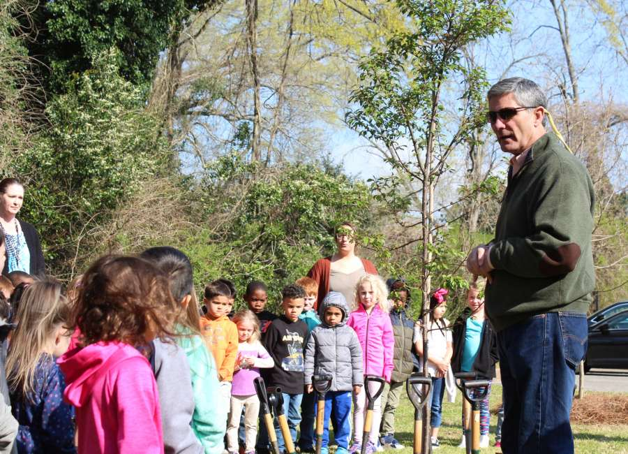 Trees planted at Newnan Elementary Schools