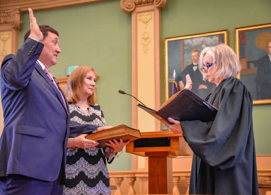 Wood sworn in as sheriff